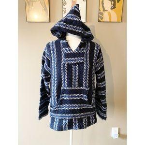 Baja Joe Mexican Woven Knit Hoodie